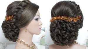 indian bridal hairstyle video
