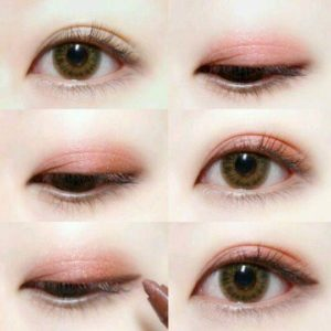 korean eye makeup step by step