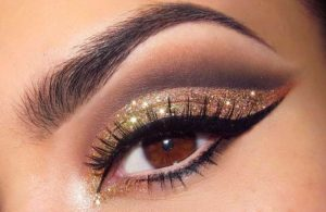 brown glitter eye makeup
