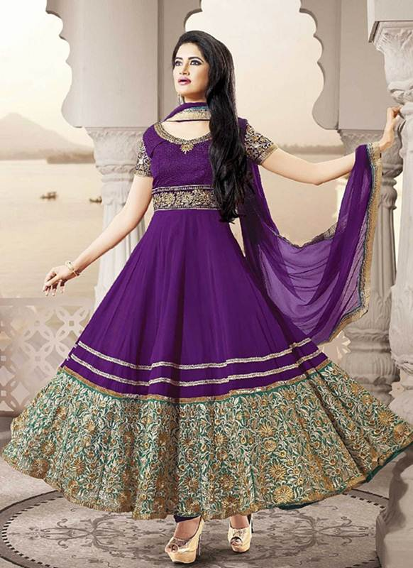 Unique-Sublime-Georgette-Anarkali-Dress-new-year-1