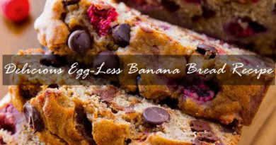 Delicious Egg-Less Banana Bread Recipe