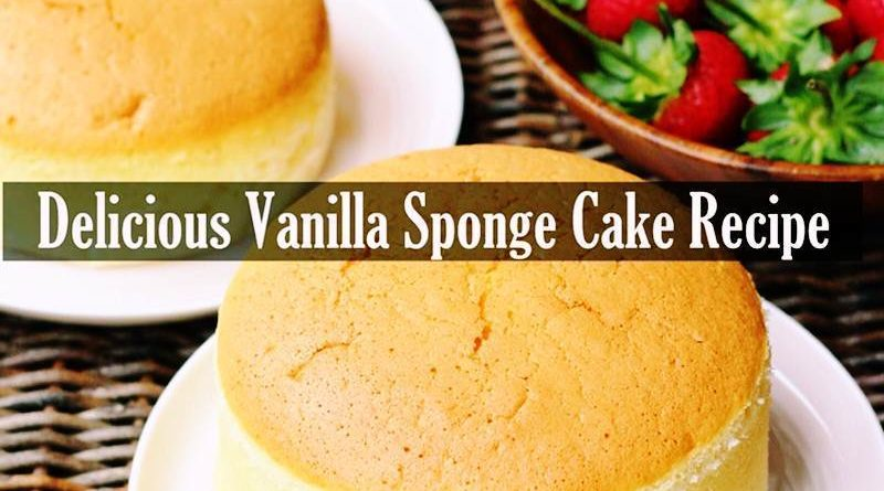 Delicious Vanilla Sponge Cake Recipe in hindi by khoobsuratworld