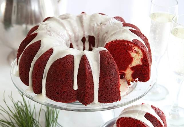 Egg less Red Velvet Cake With Condensed Milk.