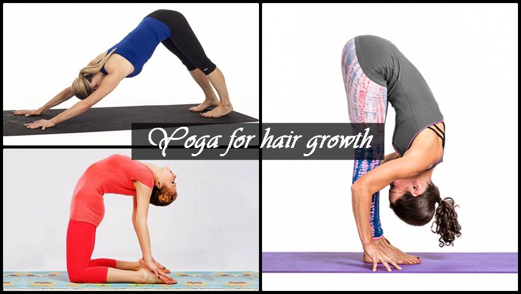 yoga for hair growth in hindi