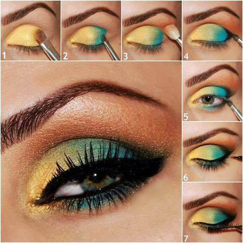 eye makeup with glitter