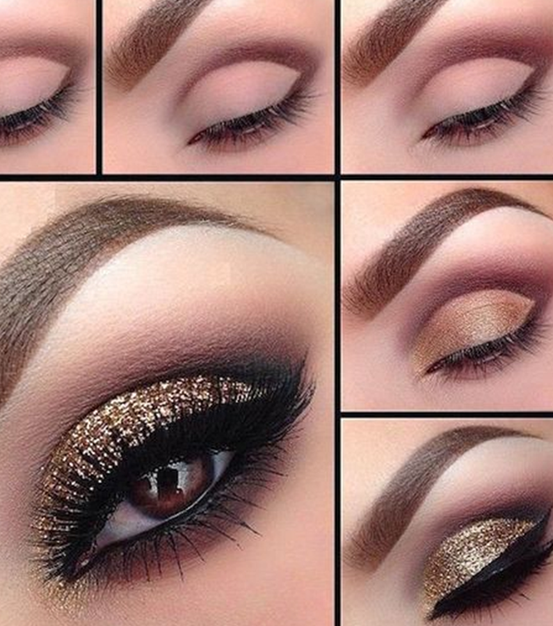 giltter eye makeup