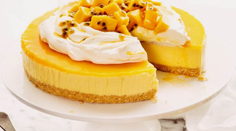 Mango Cheesecake Recipe - Mango Cake Recipe
