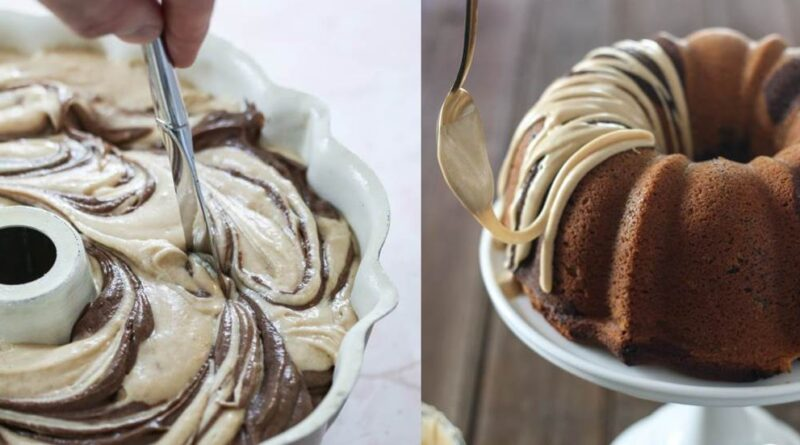 Chocolate Peanut Butter Cake - Chocolate Cake with Peanut Butter Filling